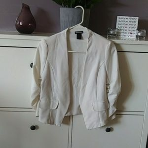 Off white slightly Beige women's blazer